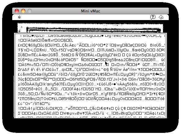 Screenshot of Agrippa scrolling encrypted junk.